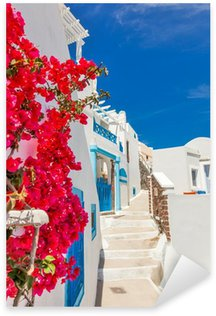 Greece Santorini island in Cyclades, traditional sights of color Sticker - Pixerstick
