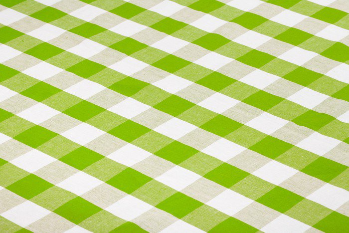 Sticker   Pixerstick Green Checkered Tablecloth   Styles