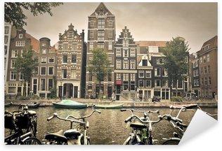 Pixerstick Sticker Grijze dag in amsterdam