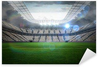 Pixerstick Sticker Groot voetbalstadion met verlichting