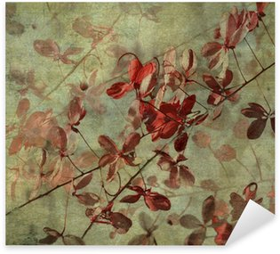 Grunge Antique Flower Background Sticker - Pixerstick