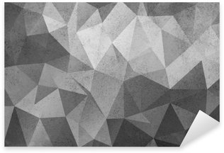 Grunge black&white polygonal vintage old background. Sticker - Pixerstick