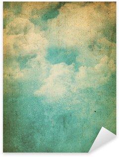 Sticker Pixerstick Grunge fond de nuages