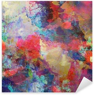 Sticker - Pixerstick grunge mixed media