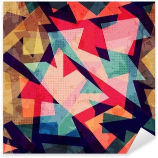 Sticker Pixerstick Grunge motif géométrique parfaite