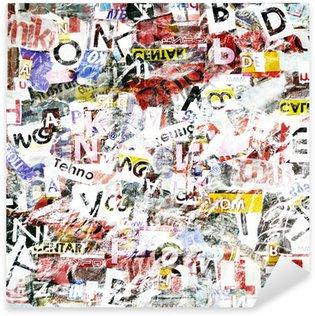 Sticker Pixerstick Grunge Textured Background