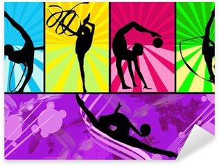 Sticker Pixerstick Gymnastes