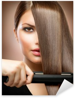 Sticker - Pixerstick Hairstyling.Hairdressing.Hair Straightening Irons.Straight Hair