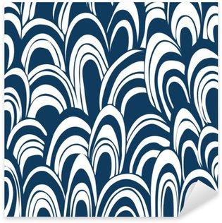 Hand drown seamless pattern Sticker - Pixerstick