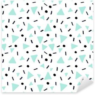Pixerstick Sticker Hand Getrokken Retro Naadloos Patroon
