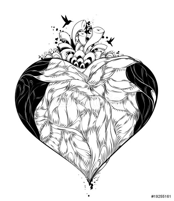 Sticker - Pixerstick heart - Wall decals
