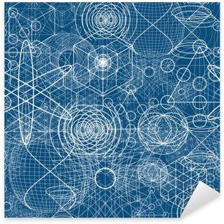 Pixerstick Sticker Heilige geometrie symbolen en elementen behang naadloos patroon
