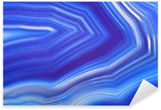 Pixerstick Sticker Helder blauwe agaat textuur close-up