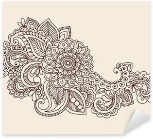 Henna Anstract Flowers Paisley Design Element Vector Sticker - Pixerstick