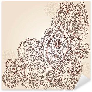 Sticker - Pixerstick Henna Mehndi Paisley Flower Doodle Vector Design