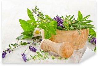Sticker Pixerstick Herbes fraiches