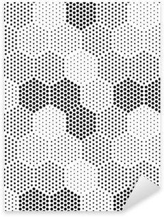 Sticker Pixerstick Hexagon Illusion Motif