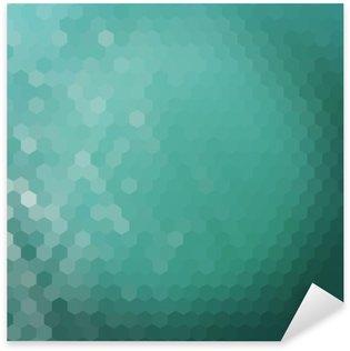 Sticker Pixerstick Hexagone d'eau fond