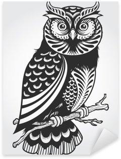 Sticker Pixerstick Hibou décoratif