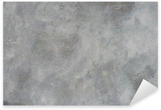 Sticker - Pixerstick High resolution rough gray textured grunge concrete wall,