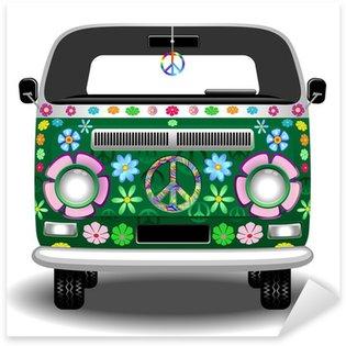 Hippie Groovy Van Peace and Love Sticker - Pixerstick