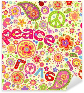 Hippie wallpaper Sticker - Pixerstick