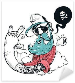 Sticker - Pixerstick Hipster graffiti illustration