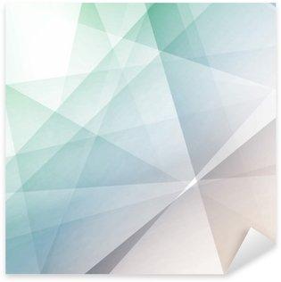Pixerstick Sticker Hipster moderne transparante geometrische achtergrond