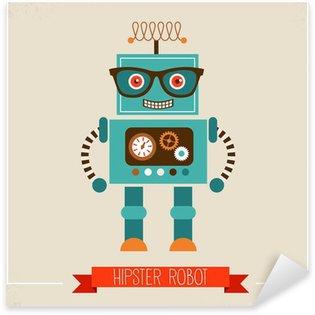 Sticker - Pixerstick Hipster robot toy icon