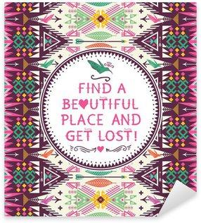 Sticker - Pixerstick Hipster seamless aztec pattern