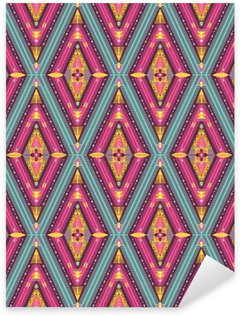 Sticker - Pixerstick Hipster seamless colorful tribal pattern with geometric elements