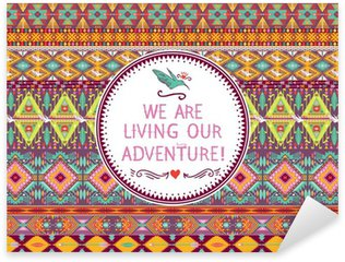 Sticker - Pixerstick Hipster seamless tribal pattern with geometric elements
