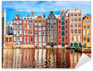 Pixerstick Sticker Huizen in Amsterdam