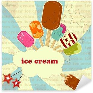 Sticker - Pixerstick Ice Cream - vintage poster