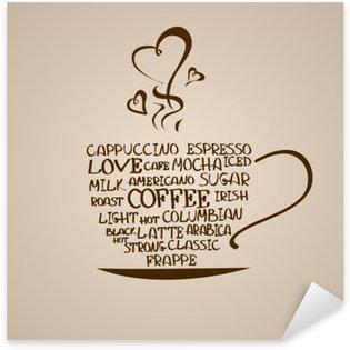 Sticker Pixerstick Icône isolé tasse de café