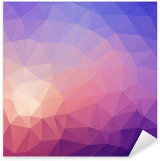 Sticker Pixerstick Illustration de couleur fond abstrait polygonale.