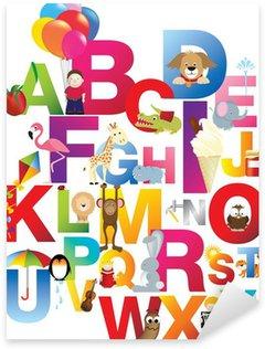 Sticker Pixerstick Illustration de l'alphabet pour enfants