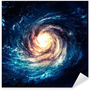 Incredibly beautiful spiral galaxy somewhere in deep space Sticker - Pixerstick