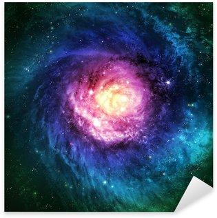 Sticker Pixerstick Incroyablement belle galaxie spirale quelque part dans l'espace lointain