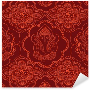 Indian seamless pattern with ornament Sticker - Pixerstick