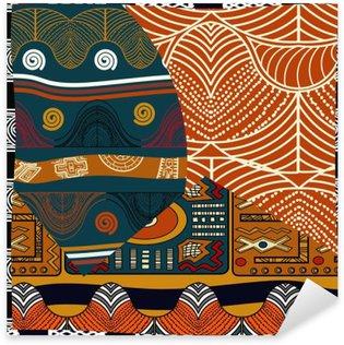 Pixerstick Sticker Indische gekleurde naadloze pattern.Vector illustratie