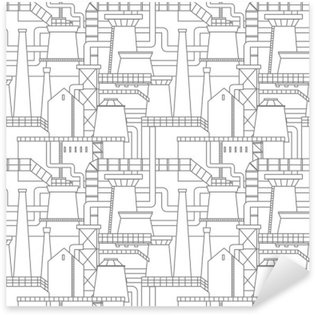 Sticker - Pixerstick Industrial city pattern