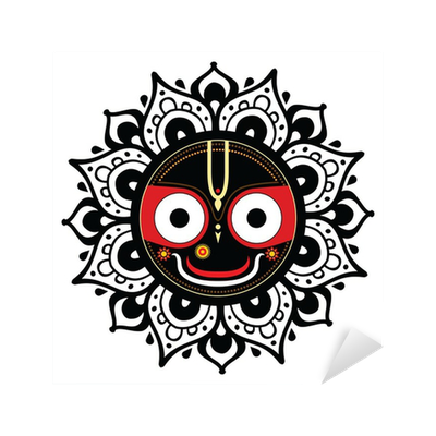 Jagannath. Indian God of the Universe. Sticker • Pixers ...