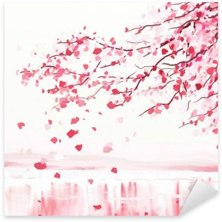 Japanese cherry tree Sticker - Pixerstick