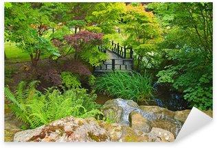 Sticker Pixerstick Jardin oriental