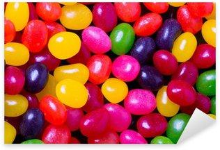 Jelly bean background closeup Sticker - Pixerstick