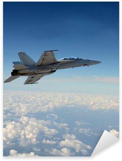 Sticker Pixerstick Jetfighter en vol
