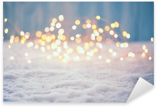 Pixerstick Sticker Kerst achtergrond van Bokeh