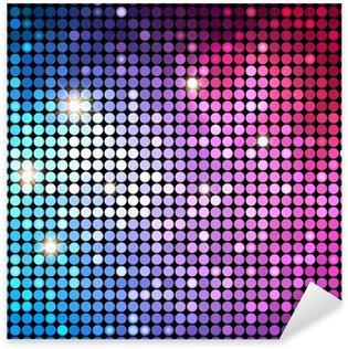 Pixerstick Sticker Kleurrijke Dots Abstract achtergrond van de disco. vector Achtergrond