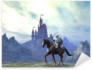 Sticker Pixerstick Knight and Castle